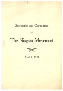 Secretaries and Committees of the Niagara Movement