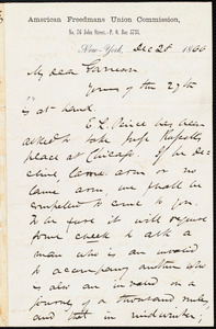 Letter from James Miller M'Kim, New York, [N.Y.], to William Lloyd Garrison, Dec[ember] 28 1866
