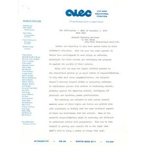 Newsnote, November 4, 1976.