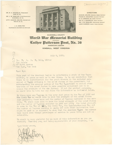 Letter from American Legion, Luther Patterson Post, No. 36, to W. E. B. Du Bois