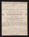 Chicago Opera House, Herrmann the great (December 25, 1892) Herrmann the great; Slave girl's dream