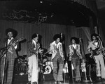 The Jackson 5 perfoming, Los Angeles, ca. 1975