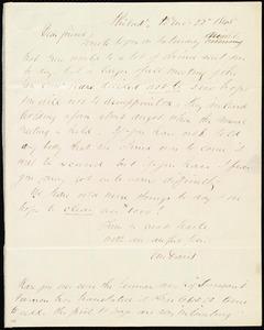 Letter from Edward Morris Davis, Philad[elphia], [Penn.], to Maria Weston Chapman, 12th mo[nth] 22 [day] 1845