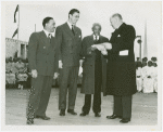 Court of Peace - Stamp ceremony including R.R. Wright (President, Negro Bankers Association of America)