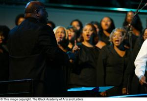 Choir director Black Music and the Civil Rights Movement Concert, featuring Chrisette Michele and Ledisi