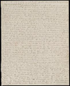 Partial letter from Anne Warren Weston, Groton, [Mass.], to Deborah Weston, March 17, 1837, Friday evening
