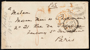 Letter from John Murray Forbes, London, [England], to Maria Weston Chapman, June 16, 1855