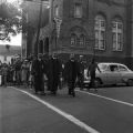 Ministers leading marchers during a civil rights demonstration in downtown Birmingham, Alabama.