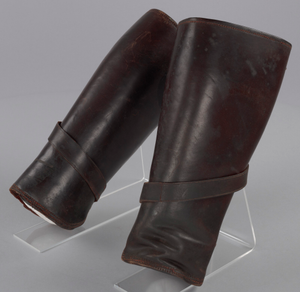 Leather leggings worn by Peter L. Robinson, Sr. during World War I