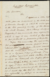 Letter from Amos Augustus Phelps, Boston, [Mass.], to William Lloyd Garrison, July 8, 1839