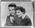 [James Stewart and Claudette Colbert, head-and-shoulders portrait, facing front]
