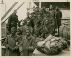 369th National Guard Regiment, also known as the Harlem Hellfighters, a well-known New York based black regiment during World War I, returning home