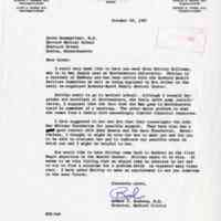 Letter from Robert C. Buxbaum, M.D. to Leona Baumgartner, M.D.