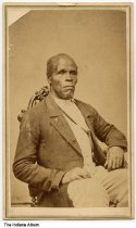 Portrait of a freed slave by a photographer from Richmond, Indiana, ca. 1865