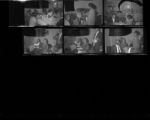 Set of negatives by Clinton Wright of a party and a snowstorm, 1967