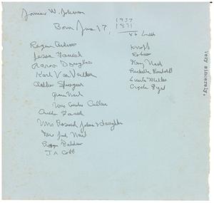 Notes on James Weldon Johnson
