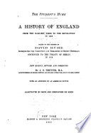 A history of England : from the earliest times to the revolution in 1688