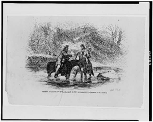 Meeting of Union and Rebel pickets in the Rappahannock