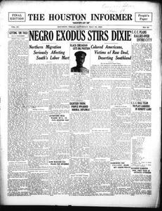 The Houston Informer (Houston, Tex.), Vol. 4, No. 52, Ed. 1 Monday, March 19, 1923