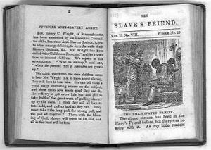 The Slave's Friend, Volume II, p. 3 New York: American Anti-Slavery Society, 1836