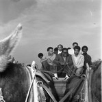 Riding on a wagon, Los Angeles, 1968