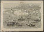 Commodore Farragut's squadron and Captain Porter's mortar fleet entering the Mississippi River