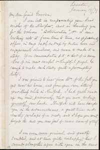 Letter from Samuel May, Jr., Leicester, [Mass.], to William Lloyd Garrison, January 14 / [18]79