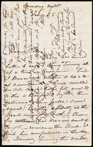 Letter from Maria Weston Chapman, [Boston, Mass.], to Deborah Weston, Monday night, Feb'y 25, [1860?]