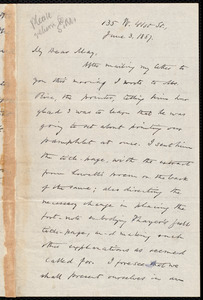 Letter from Oliver Johnson, [New York], to Samuel May, June 3, 1887