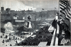 Great Sumter Meeting in Union Square, New York, April 11, from Harper's Weekly, April 25, 1863