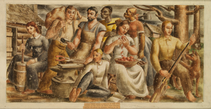 People of the Soil (mural study, Dickson, Tennessee Post Office)