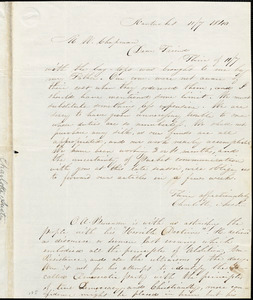 Letter from Charlotte Austin, Nantucket, [Massachusetts], to Maria Weston Chapman, 1839 [November] 7