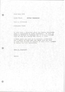 Memorandum from Mark H. McCormack to Barry Frank and Arthur Rosenblum