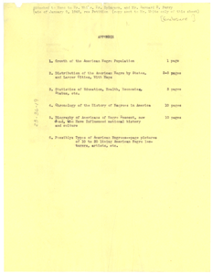 Appendix to 'Appeal of the World'