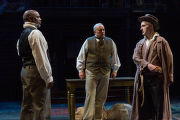 David Alan Anderson, Mark Goetzinger and Michael Joseph Mitchell in a scene from the play Finding home: Indiana at 200