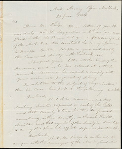 Letter from Elizur Wright, New York, to Amos Augustus Phelps, 1834 June 20