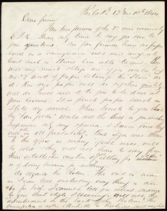 Letter from Edward Morris Davis, Philad'l, [Penn.], to Maria Weston Chapman, 12 Mo[nth] 10th [Day] 1844
