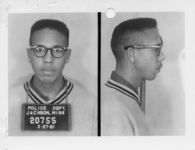 Thumbnail for Mississippi State Sovereignty Commission photograph of Albert Earl Lassiter following his arrest for his participation in a sit-in at a library in Jackson, Mississippi, 1961 March 27