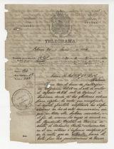 Antonio González Anleo telegram to the Supreme Governor, January 20, 1866