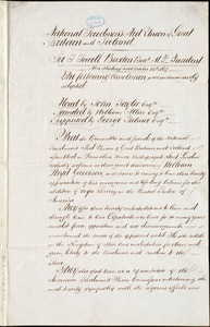 Resolution of the National Freedmen's Aid Union of Great Britain and Ireland