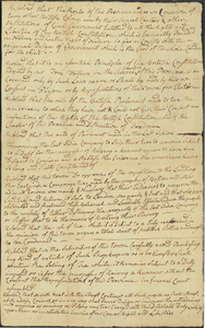 Draft of the Newton Resolves, between 1773 and 1774