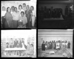Set of negatives by Clinton Wright including Womens' Progressive club, Negro History Week at Kit Karson, Operation Independence, Samatha Garden and children, Mr. Carter, and Mrs. White at Matt Kelley, 1966