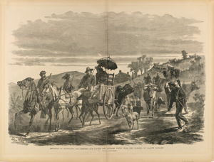 "Invasion of Maryland, 1864--Driving Off Cattle and Plunder taken from Farmers by Early's Cavalry, from ""The Soldier in Our Civil War"""