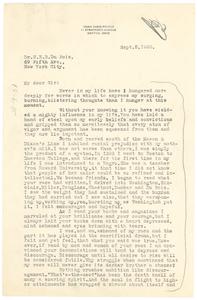 Letter from Adah Dodd-Poince to W. E. B. Du Bois