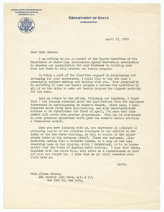 Letter to Althea Gibson from Sheila Ann Hessler