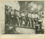 The United States Mobilisation At Tampa : Negroes Shipping The Wagon Train At Night
