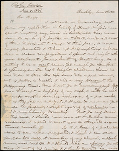 Letter from George Jeffrey Tillotson, Brooklyn, [Conn.], to Amos Augustus Phelps, 1841 June 8th
