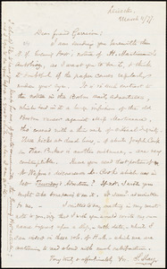 Letter from Samuel May, Jr., Leicester, [Mass.], to William Lloyd Garrison, March 11 / [18]77
