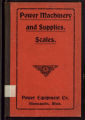 Power Machinery, Supplies, and Scales from the Power Equipment Company, Minneapolis, Minnesota