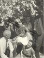 Katherine Dunham, John Pratt, Marie-Christie Dunham Pratt, Valeska Suratt and friend